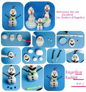 Snowman Tutorial by Angelica Aublet