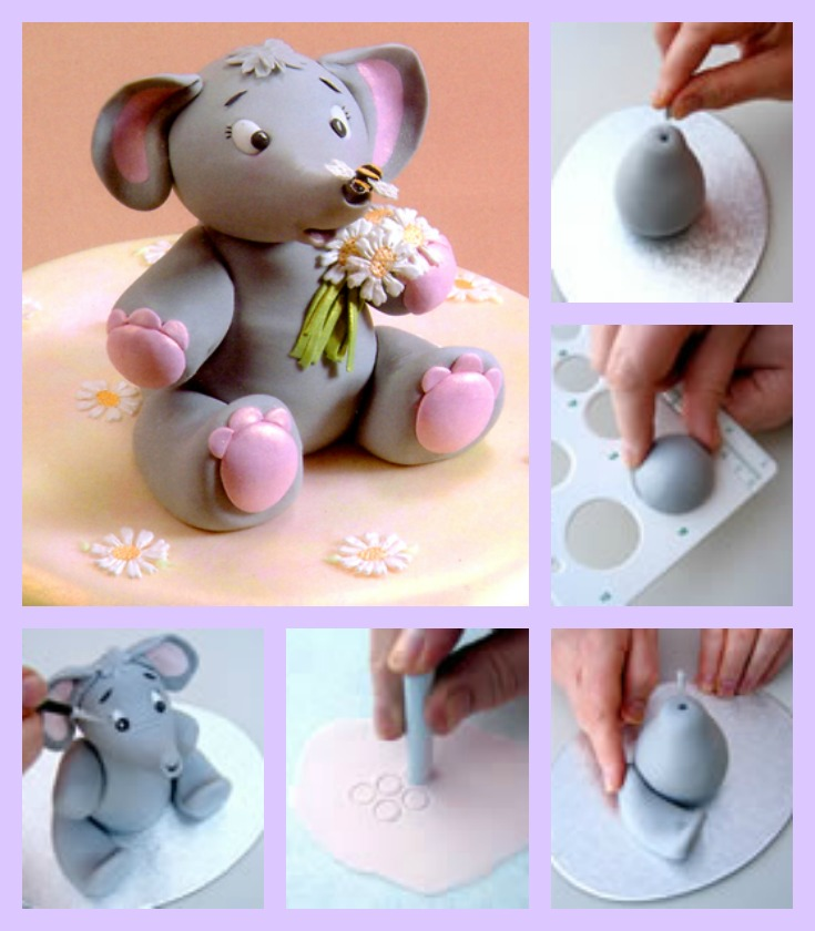 Baby Elephant Fondant Tutorial Created By Patchwork