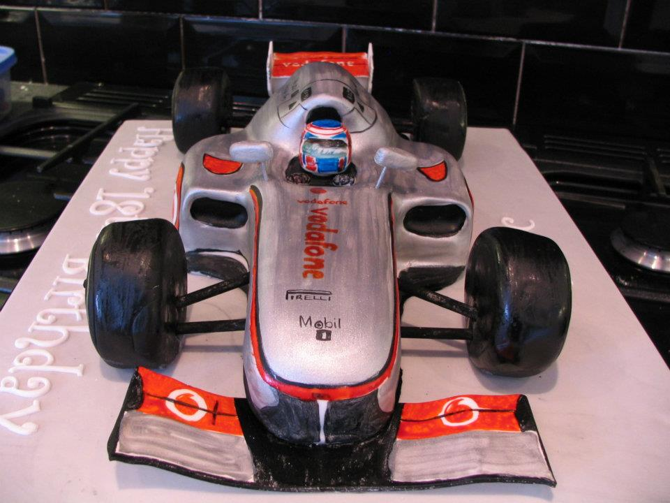 Formula 1 racing car tutorial created by cherly 39 s cakes for F1 car cake template