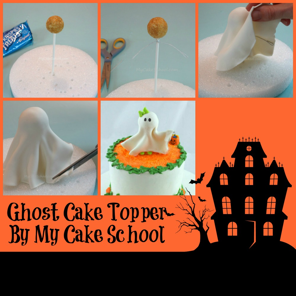 Ghost Cake Topper By My Cake School The Cake Directory