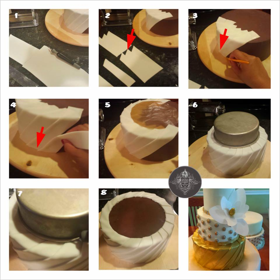 Fondant pleats by way beyond cakes by mayen the cake directory pleats baditri Image collections