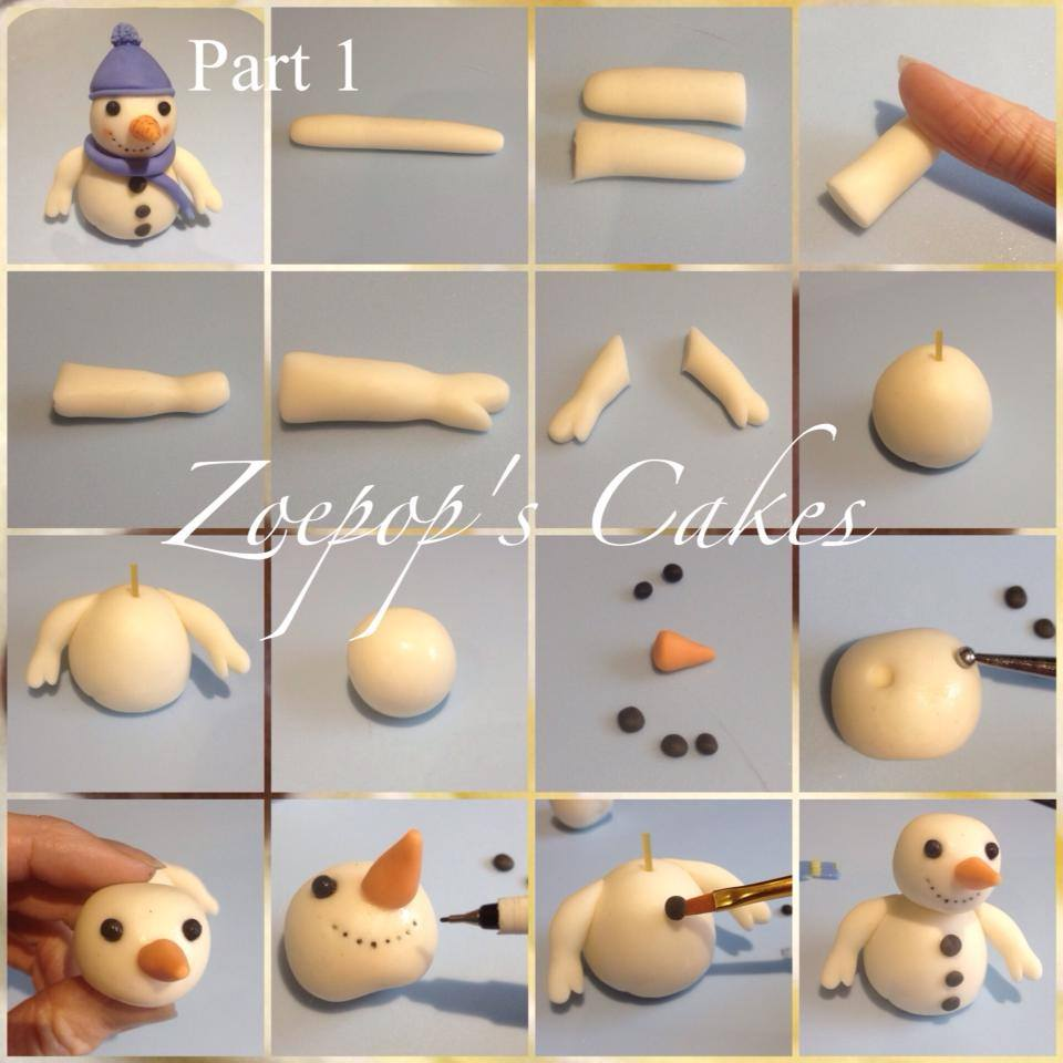 Christmas Cake Decorating Step By Step : Snowman Christmas Cake Topper Tutorial by Zoepop s Cakes ...