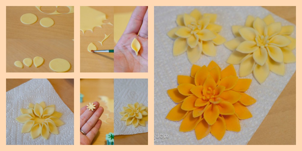 Easy Fondant Mum Flower Tutorial By Bakingdom The Cake Directory