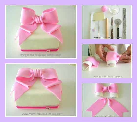 How to make a fondant Bow by Make Fabulous Cakes The Cake
