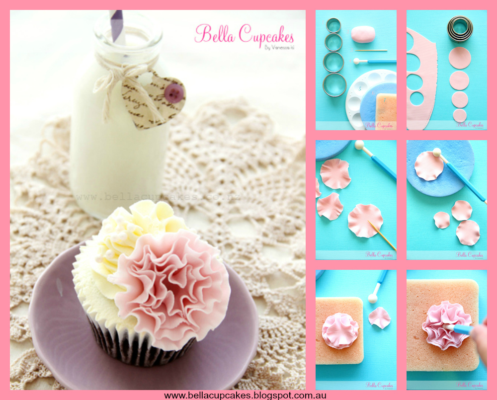 How To Make A Fondant Ruffle Cake