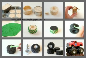 monster truck tyres and monster truck by jessicakes the cake