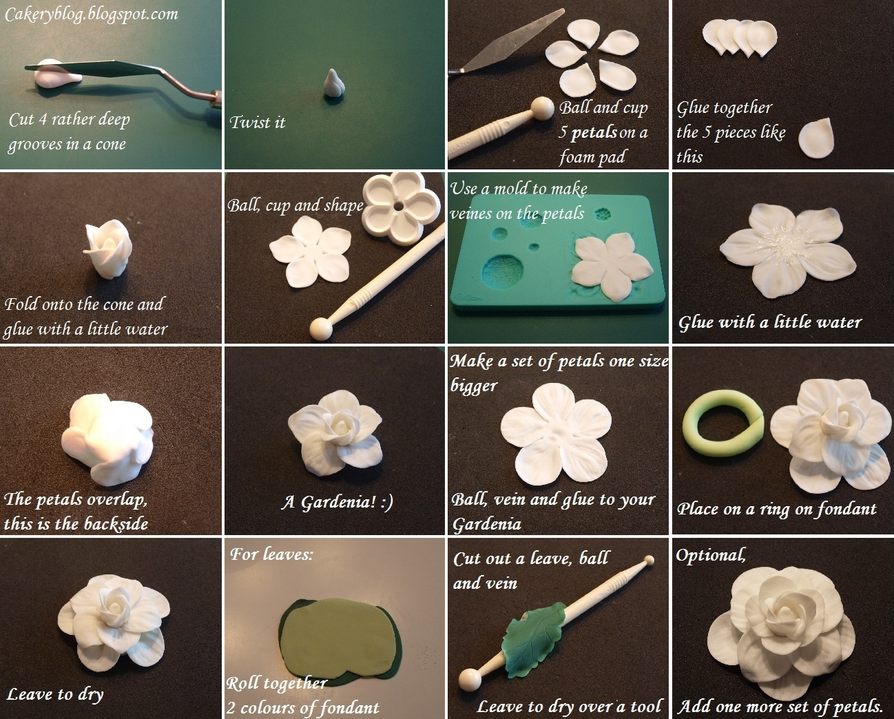 How to make a fondant gumpaste gardenia flower by cakeryblog the olympus digital camera izmirmasajfo