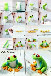 Green Tree Frog Tutorial by Cake Dutchess