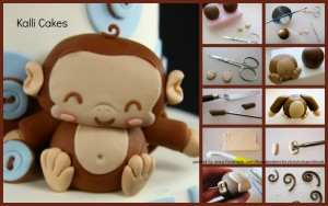 Monkey Tutorial by Kalli Cakes