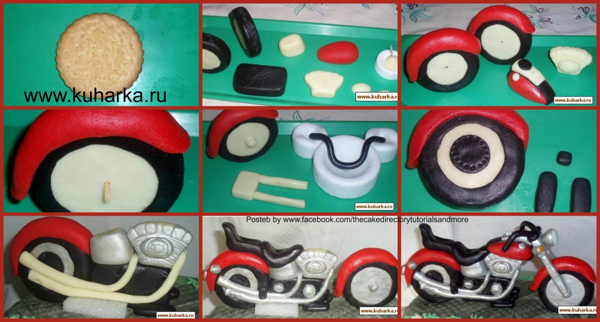 1000 images about fondant tutorials on pinterest fondant gum paste and fondant tutorial for Motorbike template for cake