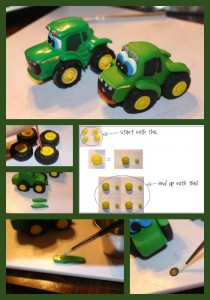 John Deere Tractor Tutorial by Peggy Does Cake