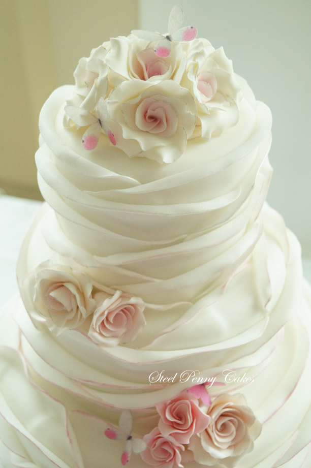ruffle rose wedding cake tutorial fondant ruffle wrap tutorial by steel cakes the 19460