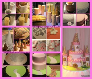 Castle Cake Tutorial By Paging Fun Mums